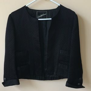 Vintage Saks Fifth Avenue open front blazer